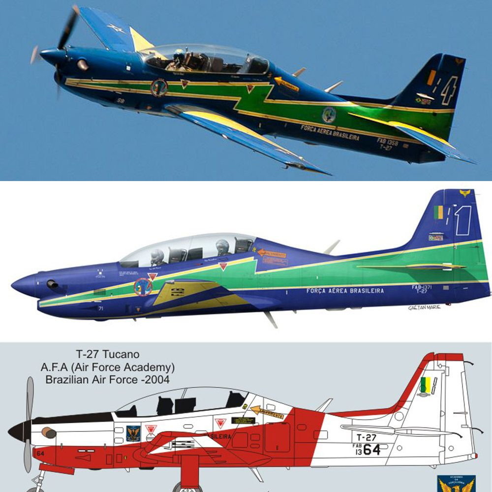 Set T-27 Tucano Esquadrilha da Fumaça + AFA