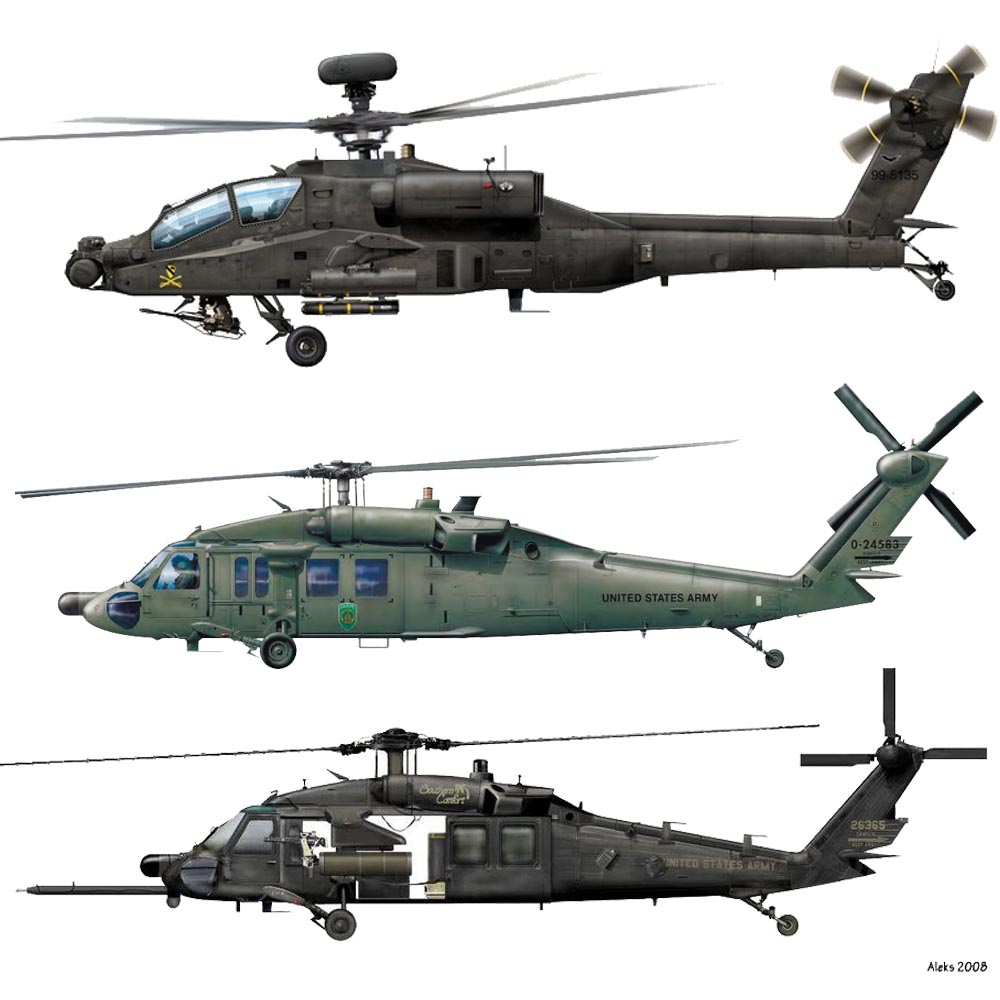 SET US Army Helicopters