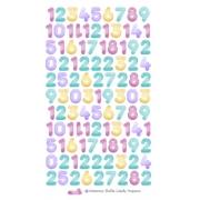 Adesivos Números Balão Candy - Pequeno