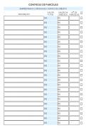 Refil Individual Financeiro Médio - Controle de parcelas
