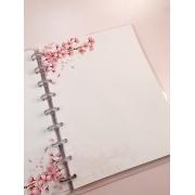 Refil Sakura (folhas de cerejeira) tamanho A5 (8 furos)