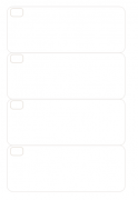 Refil Semanal em Branco Dividido - Tamanho A5