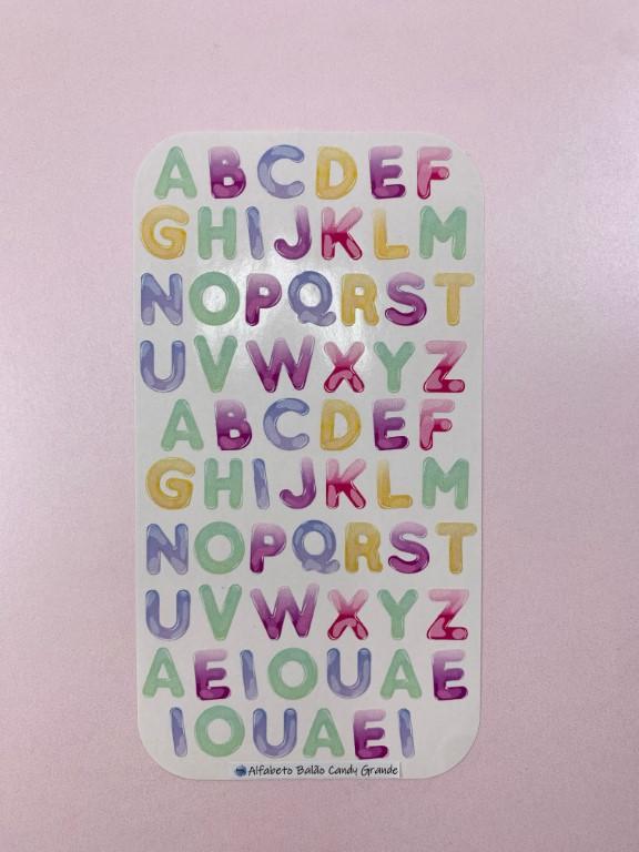 Adesivos Alfabeto Balão Candy