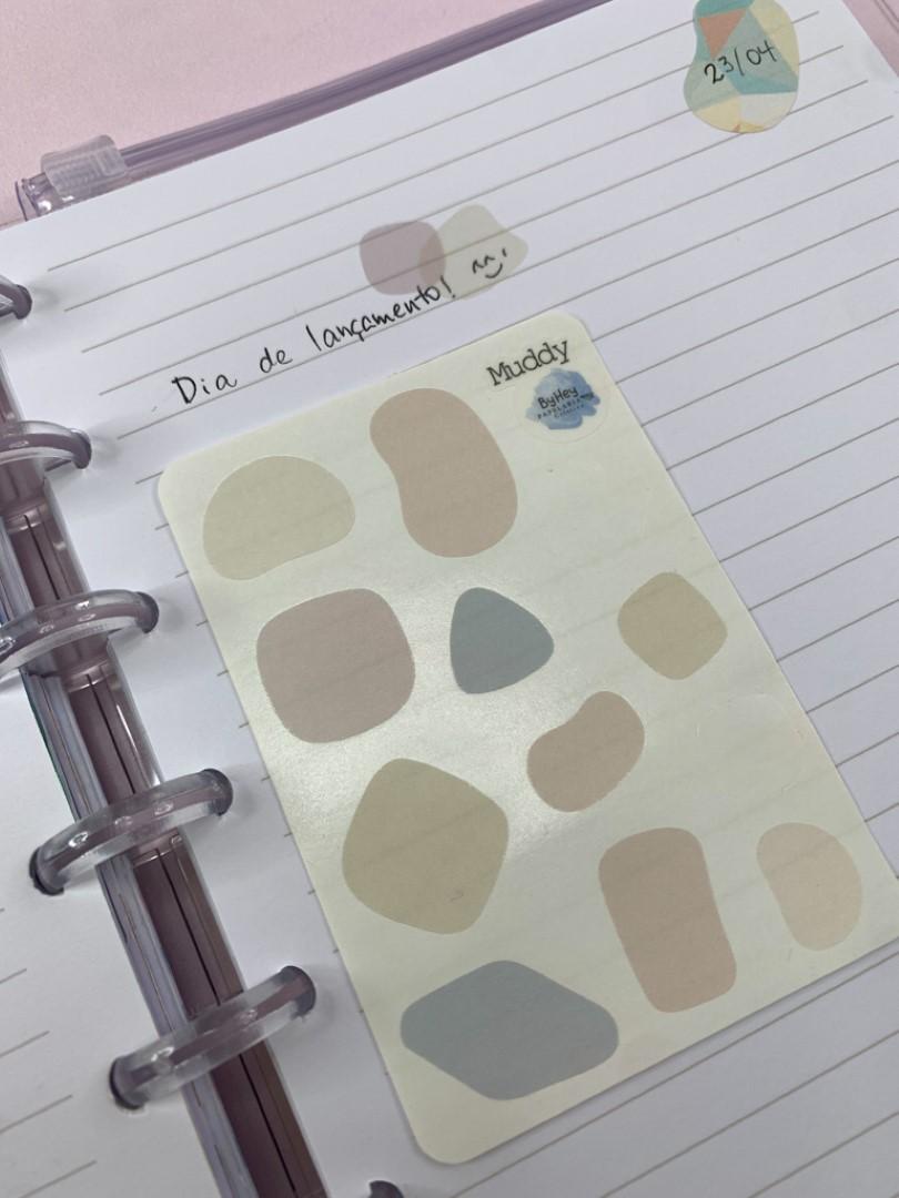 Adesivos geométricos (papel branco)