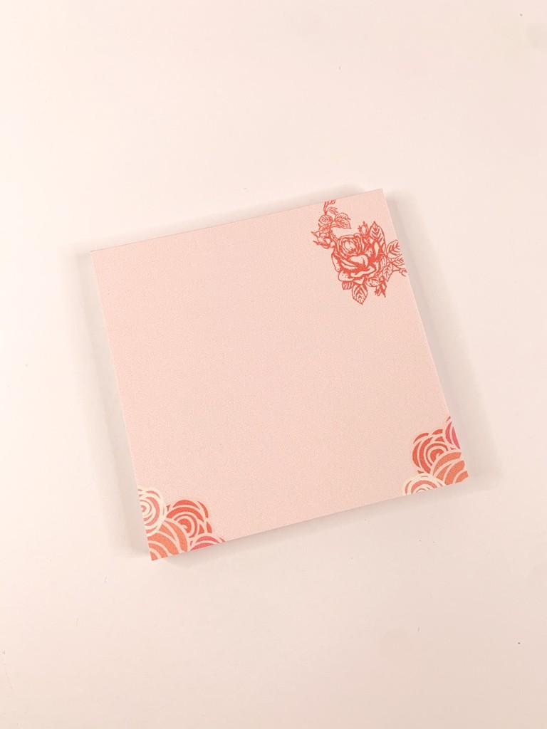 "Bloco de notas ""Valentine´s pink"""