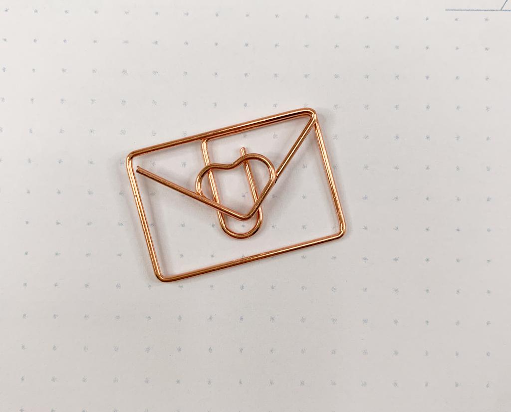 Clips Carta (Dourado e Rose)