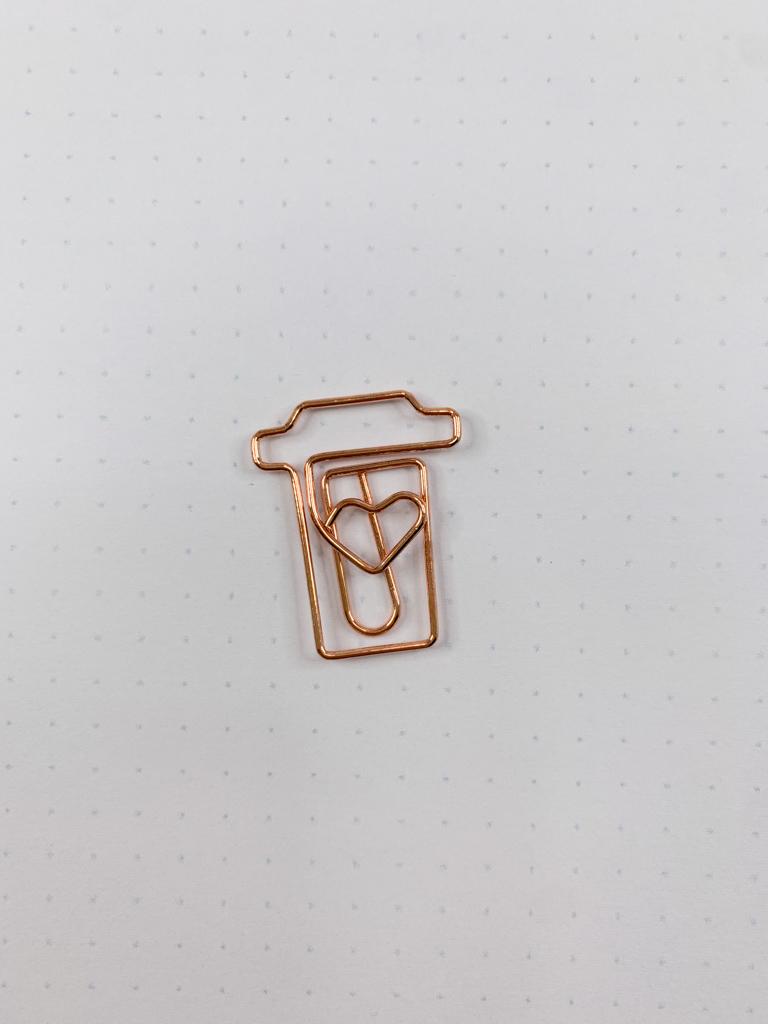 Clips Cup of Coffee (Dourado e Rose)