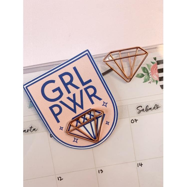 Clips Girl Power - Diamante