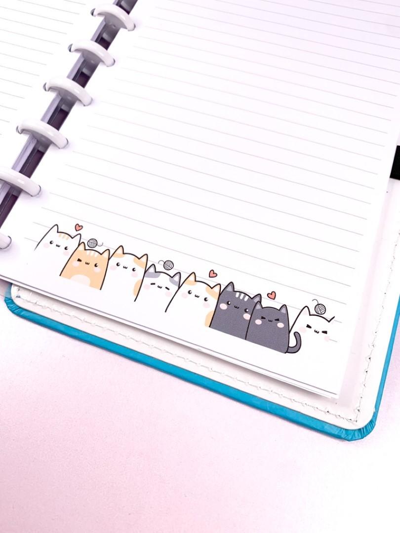Refil de folhas pautadas Cutie Cat (Grande)