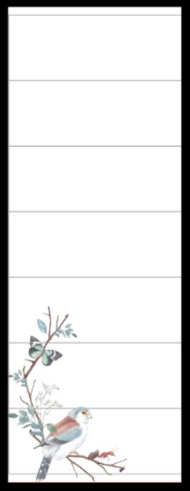 Refil Meia Página Grande (11 furos) - Pássaros