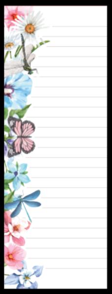 Refil Meia Página Médio (9 furos) - Borboletas