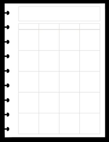 Refil Mensal em Branco Dividido - Tamanho Médio