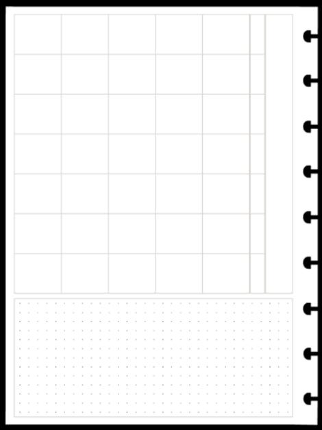 Refil Mensal em Branco Horizontal - Tamanho Médio