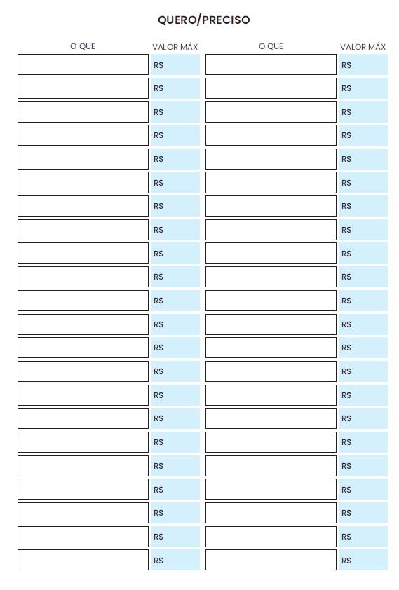 Refil Planner Financeiro Médio - ANUAL