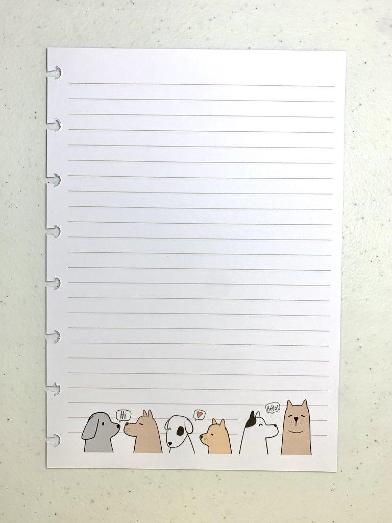 Refil Puppy Love Tamanho A5