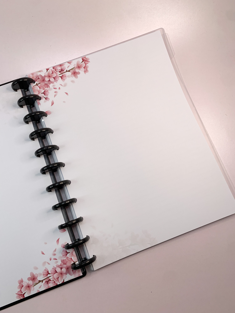 Refil Sakura (folhas de cerejeira) tamanho Grande (11 furos)