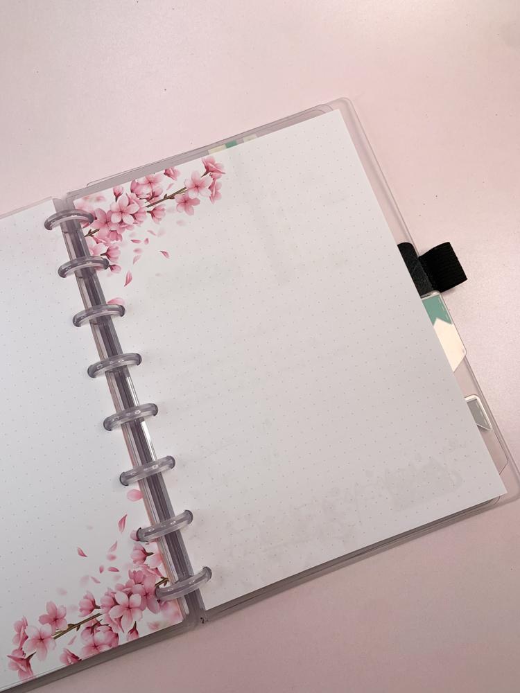 Refil Sakura (folhas de cerejeira) tamanho Médio (9 furos)