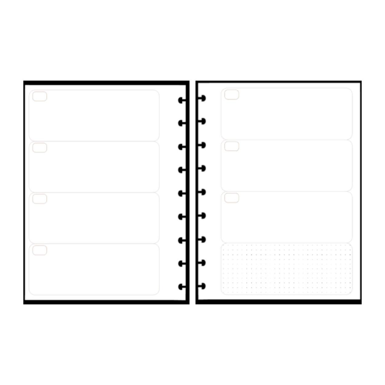 Refil Semanal em Branco Dividido - Tamanho Médio