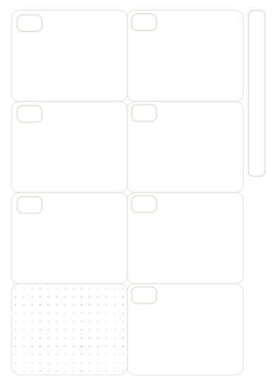 Refil Semanal em Branco uma página - Tamanho A5