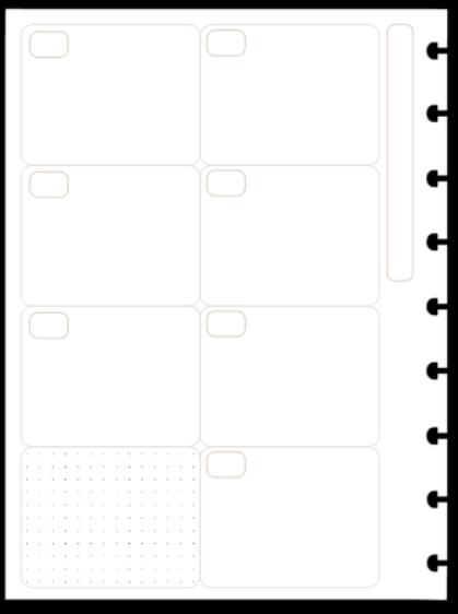 Refil Semanal em Branco uma página - Tamanho Médio