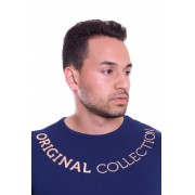 Camiseta Original Collection Exclusive Corrente Gold Marinho