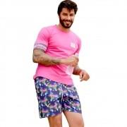Shorts OC Flamingo Roxo