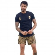 Shorts OC Gold Flowers Preto