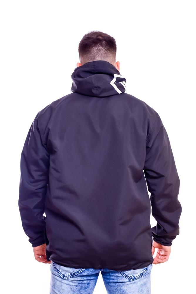 Blusa Corta Vento Black Out Ziper Com Capuz