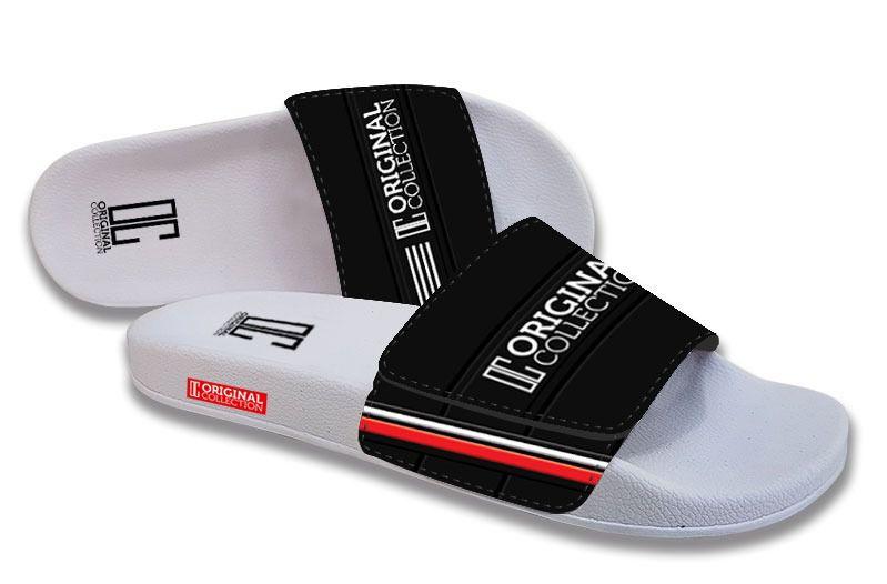 Chinelo Slide C/Velcro Elegance Branco