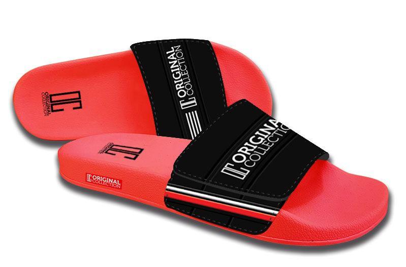 Chinelo Slide C/Velcro Elegance Vermelho