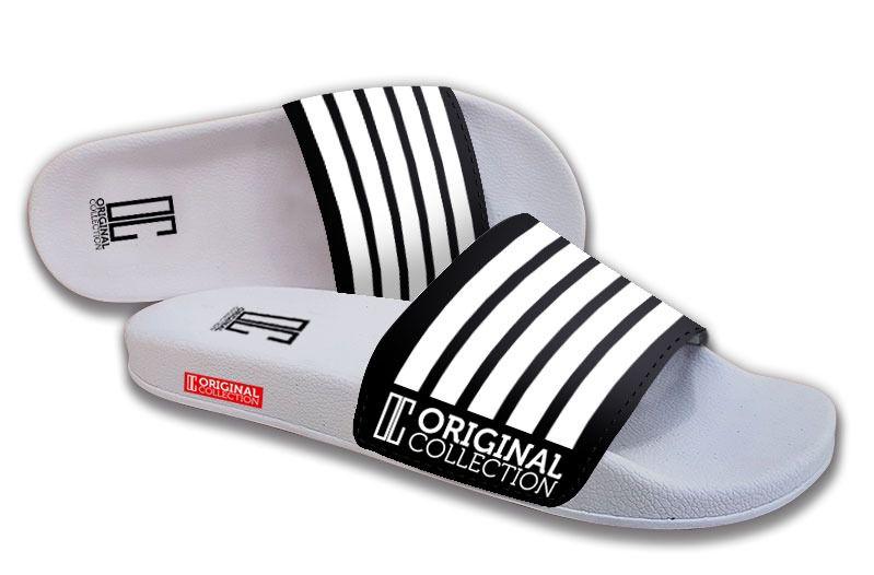 Chinelo Slide C/Velcro Streaky Pb Branco