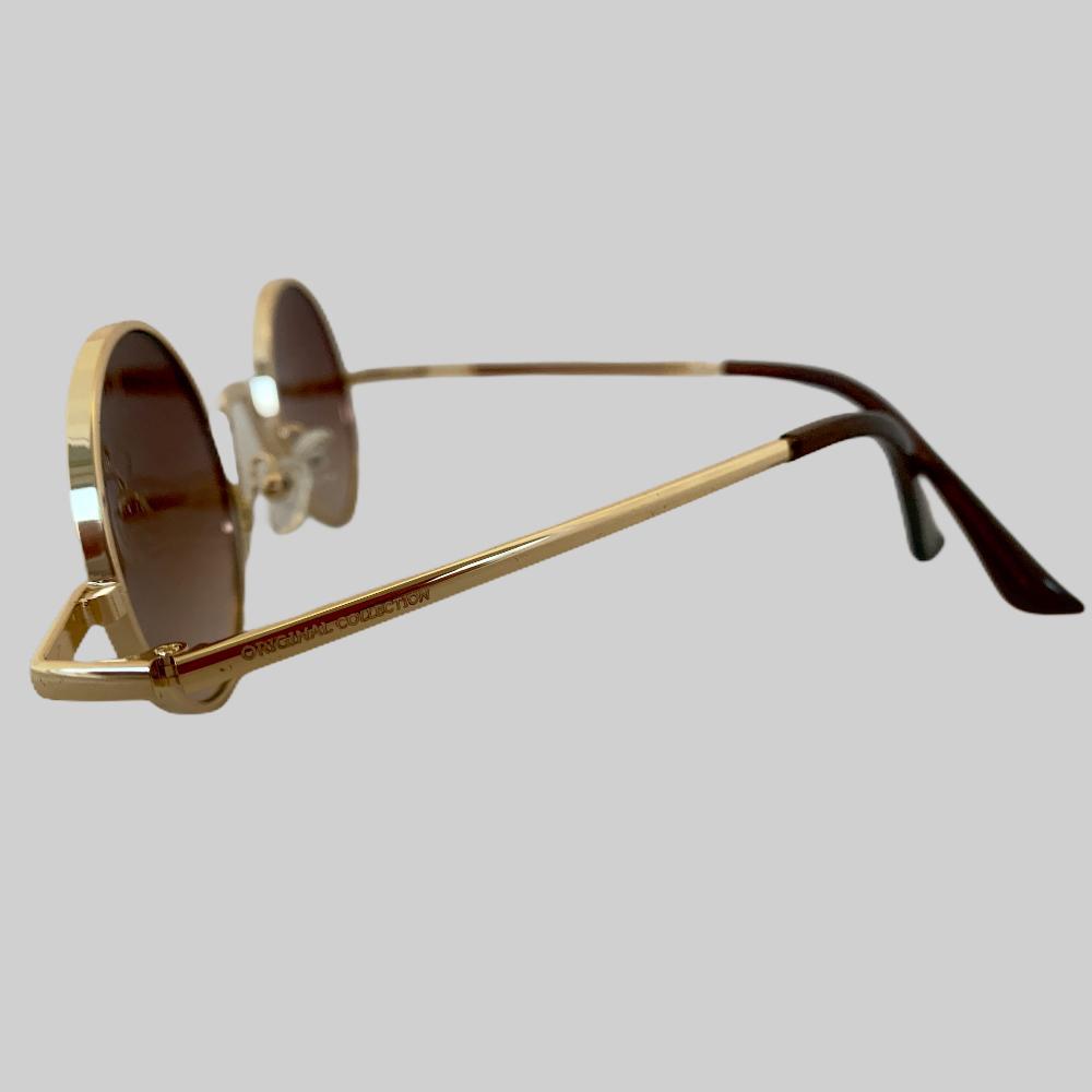 Óculos Original Collection Zeus Metal Marrom com Dourado