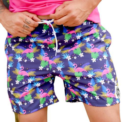 Shorts OC Flamingo Roxo