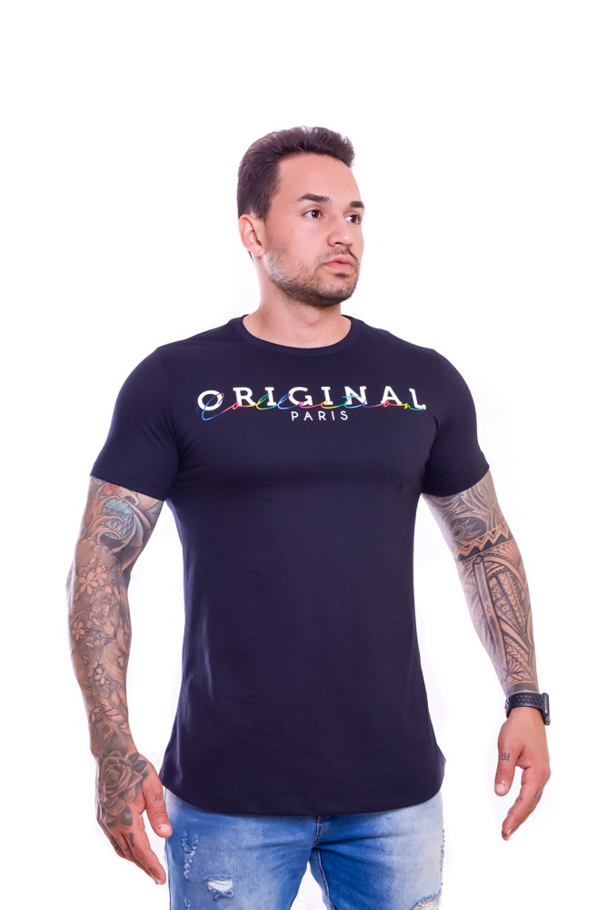 T shirt Confort Original Collectio Week long Preto