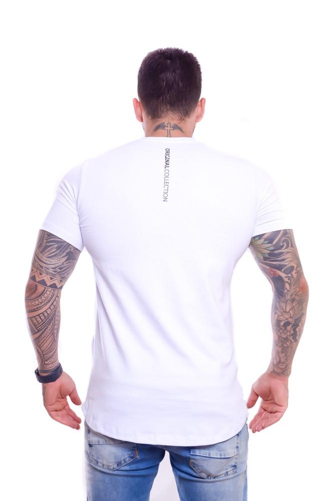 T shirt Confort Original Collection Veneza long Branca