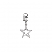 Berloque Estrela Vazada