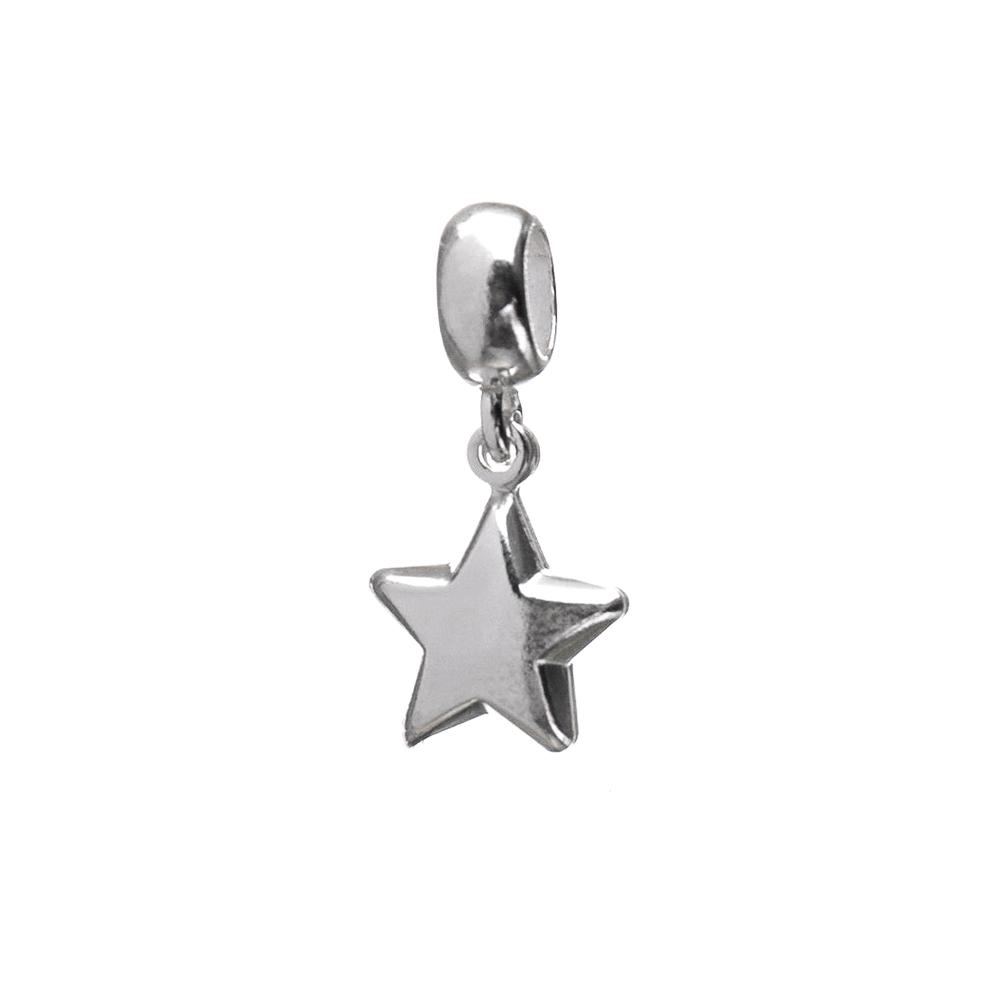 Berloque Estrela Liso em Eletroformação