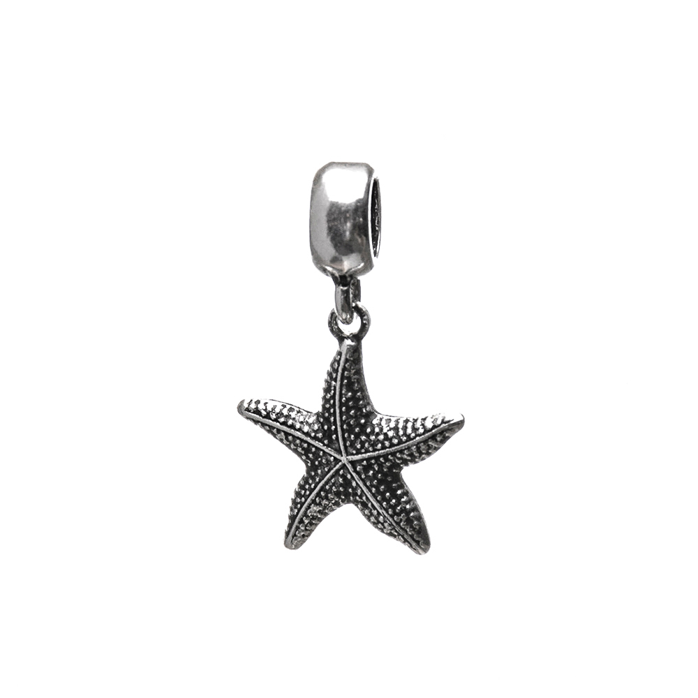 Berloque Estrela do Mar Trabalhada Envelhecido