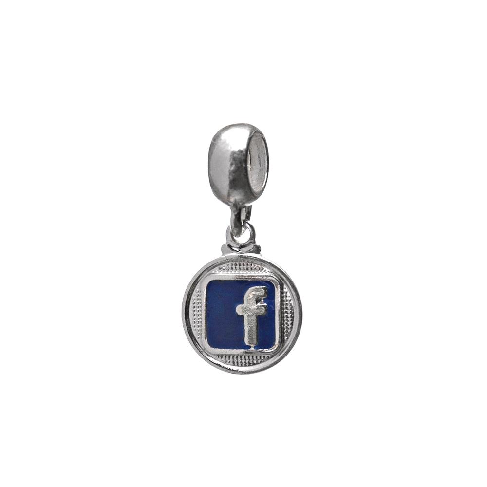 Berloque Facebook com Resina