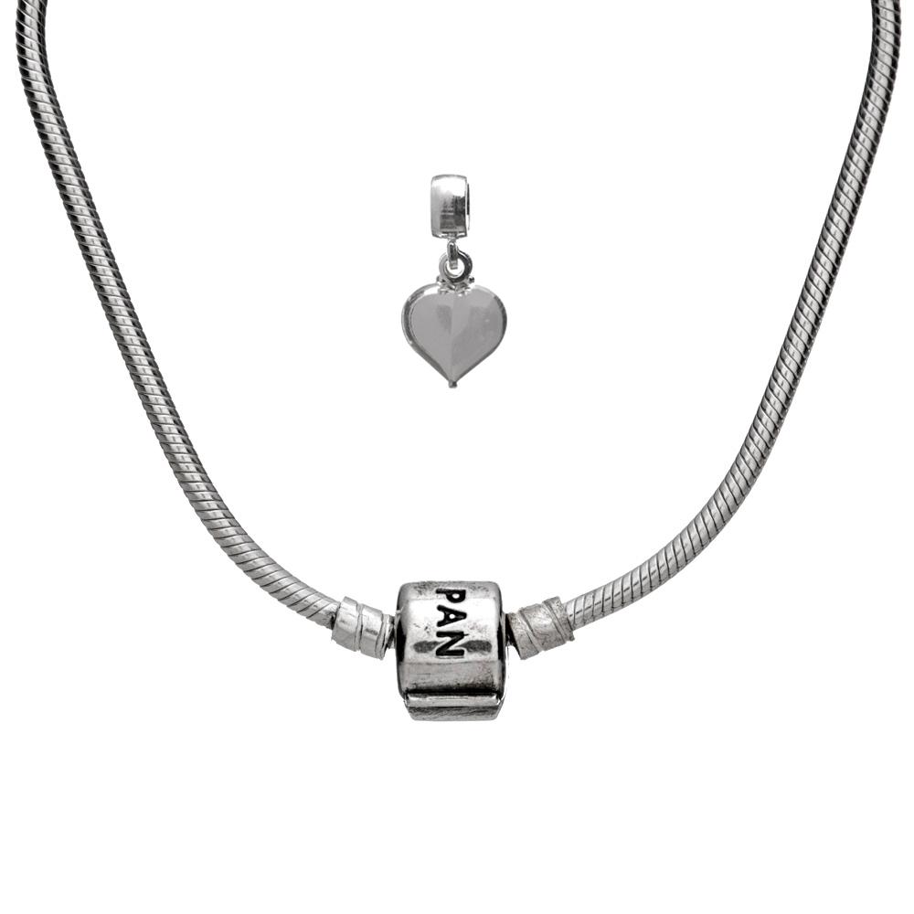 Kit Pandora com Berloque Coração