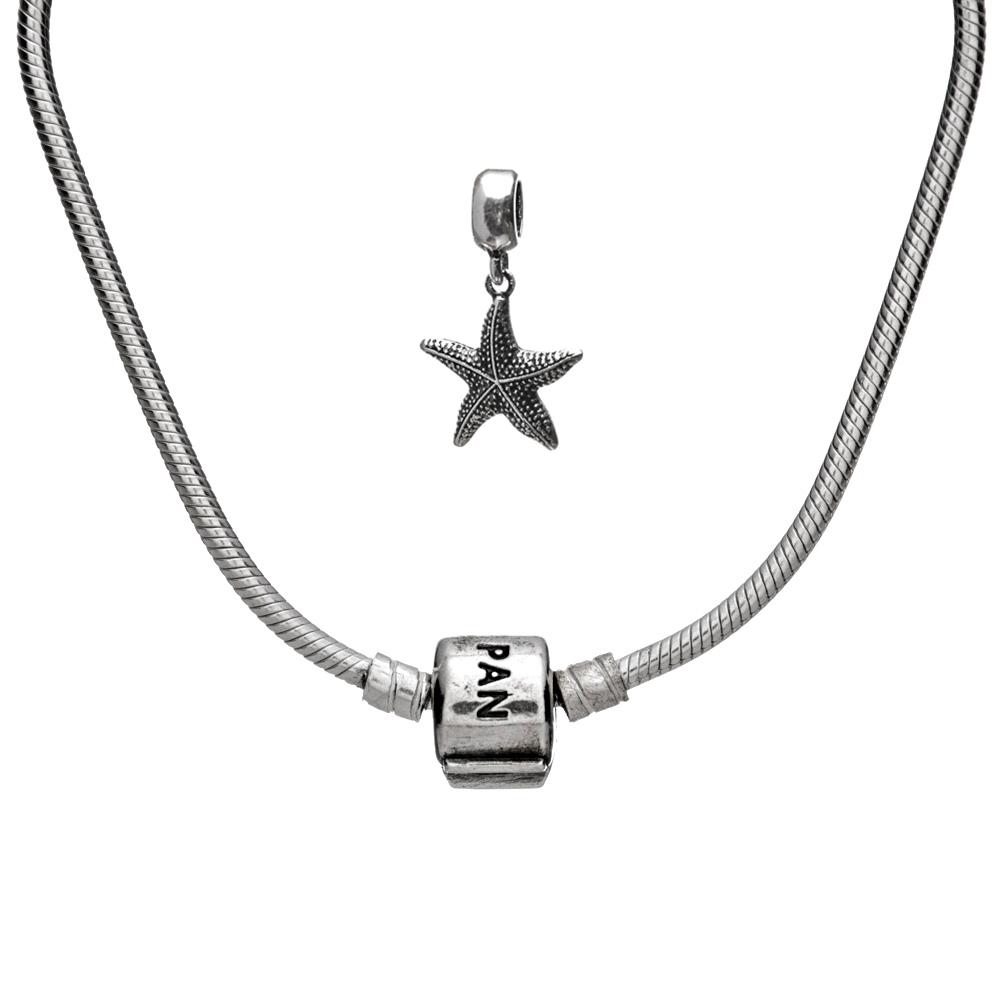 Kit Pulseira Maleável com Berloque Estrela do Mar