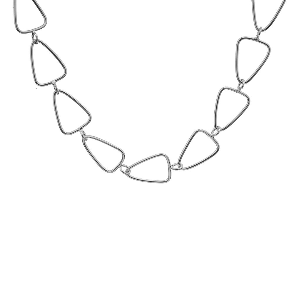 Pulseira Triângulos Vazados Ligados