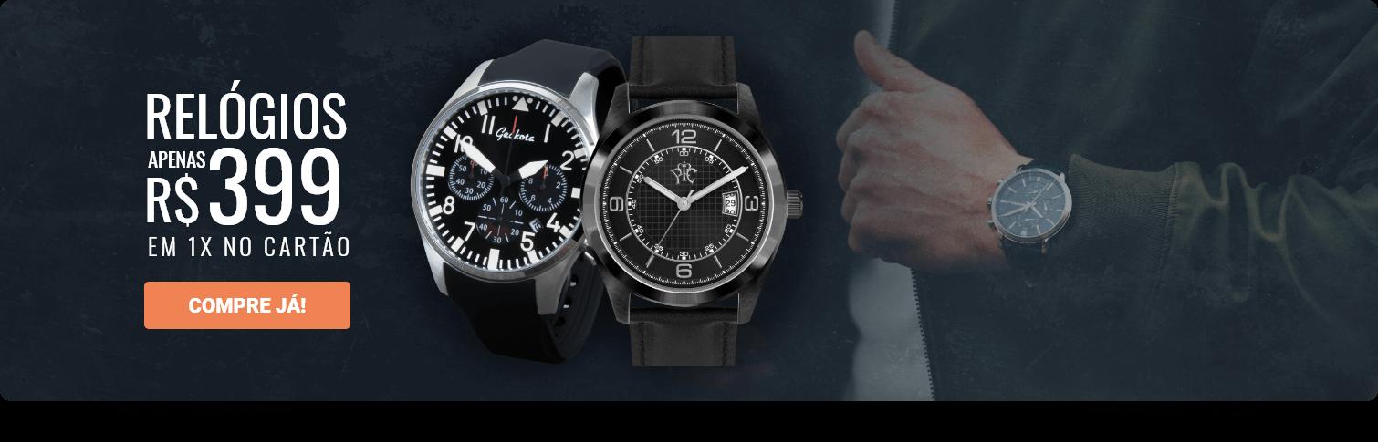 Relógios apenas R$ 399