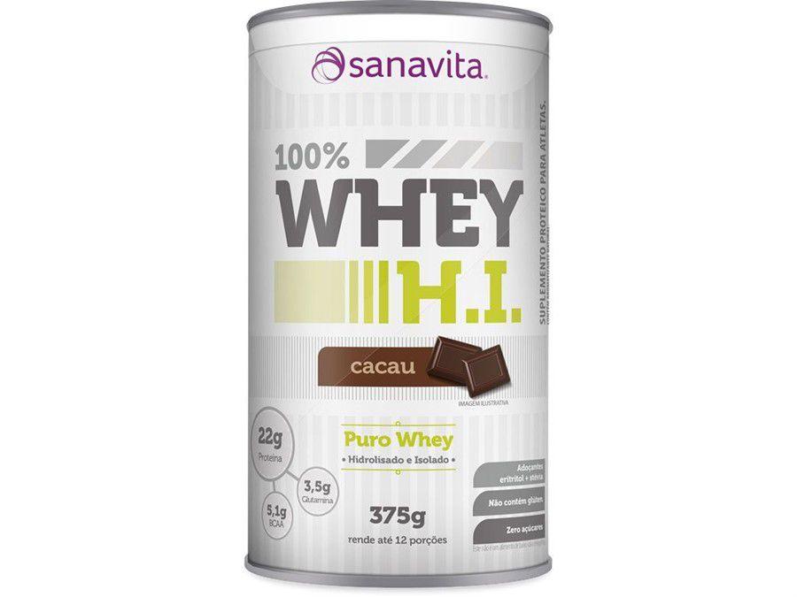 100% Whey H.I 375g Sanavita - Cacau