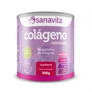Colágeno Hidrolisado Cranberry 300 g Sanavita
