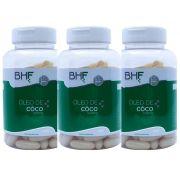Kit C/ 3 Potes de Óleo de Côco 1000 Mg c/120 Cápsula 1000 Mg