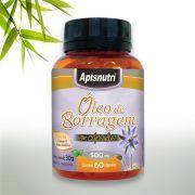 Óleo de Borragem c/60 cápsulas 500 mg Apisnutri