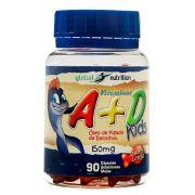 Vitaminas A + D kids 150mg c/90 cápsulas Gelatinosas - Sabor Cereja