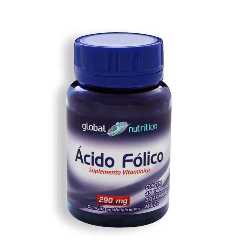 Ácido Fólico 240 mcg c/45 cápsulas Gelatinosas da Global Nutrition