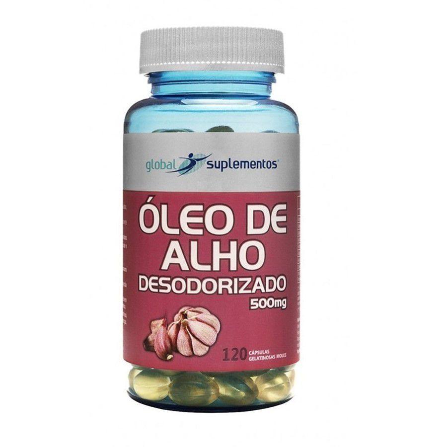 Alho Desodorizado 500 mg c/120 caps Global Suplementos